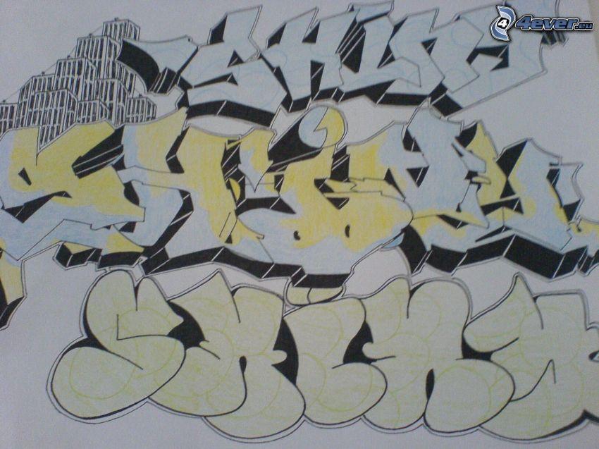 graffiti, bokstäver