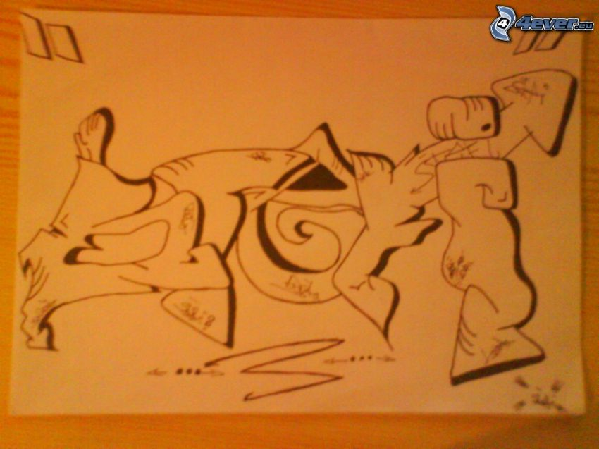 graffiti, teckning