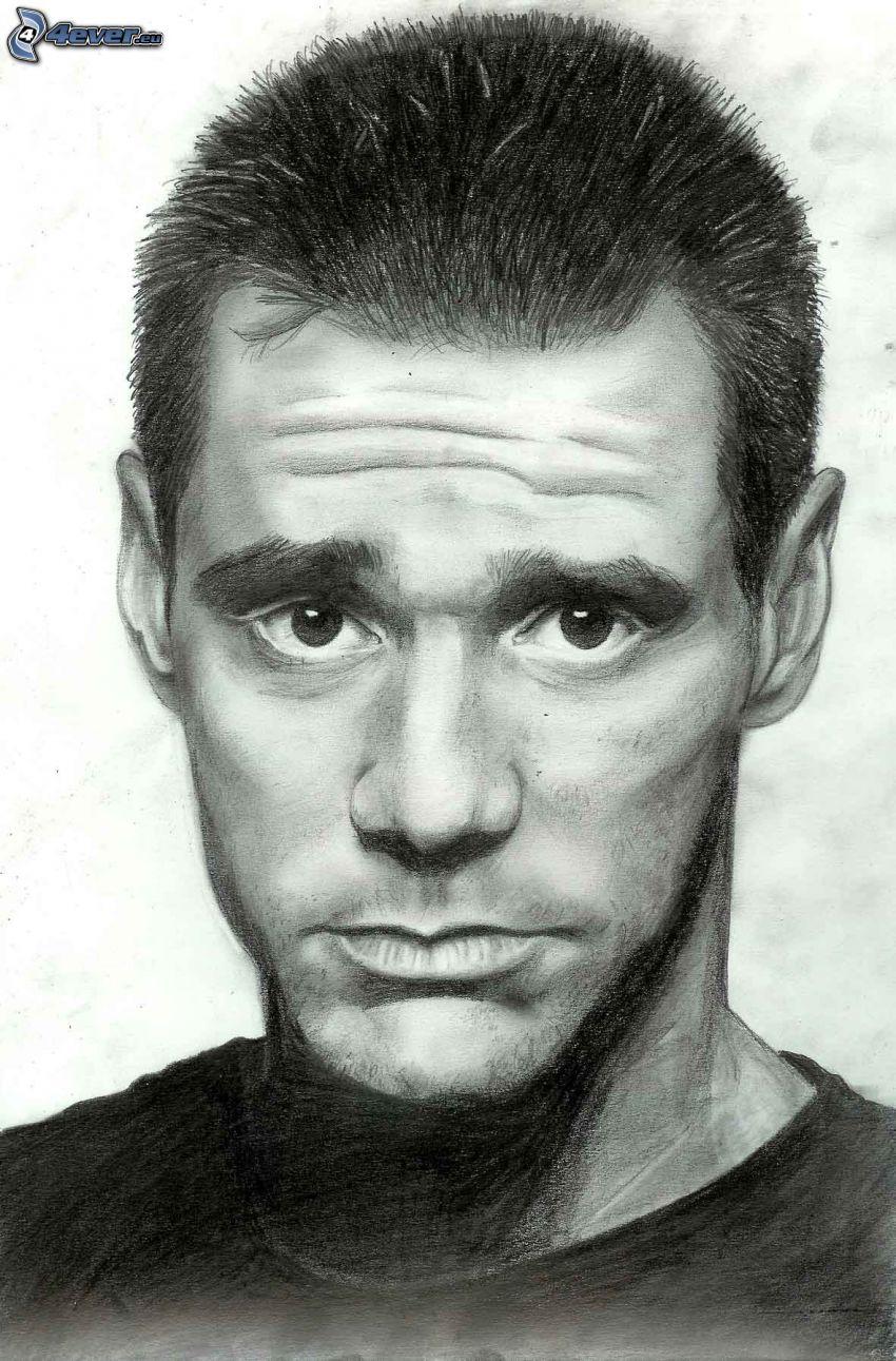 Jim Carrey, teckning