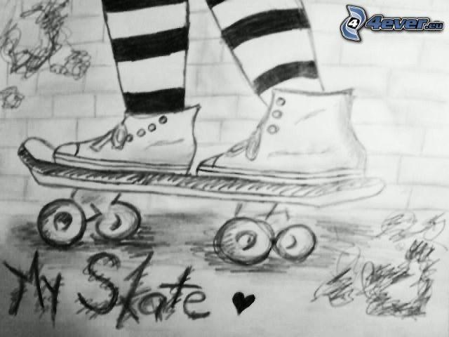 skateboard, ben