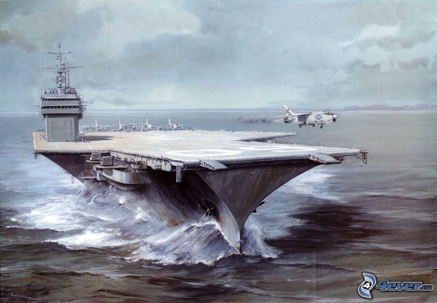 hangarfartyg, flygplan
