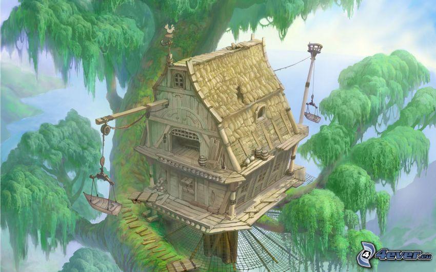hus i träd