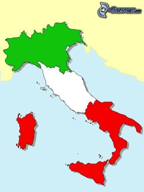 Italien, Italia, karta