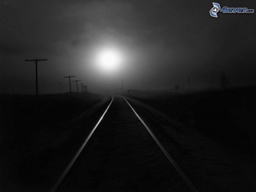 järnväg, måne