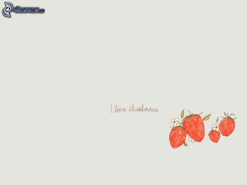 jordgubbar, text