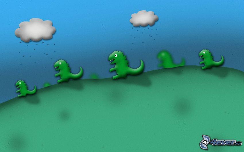 krokodiler, moln