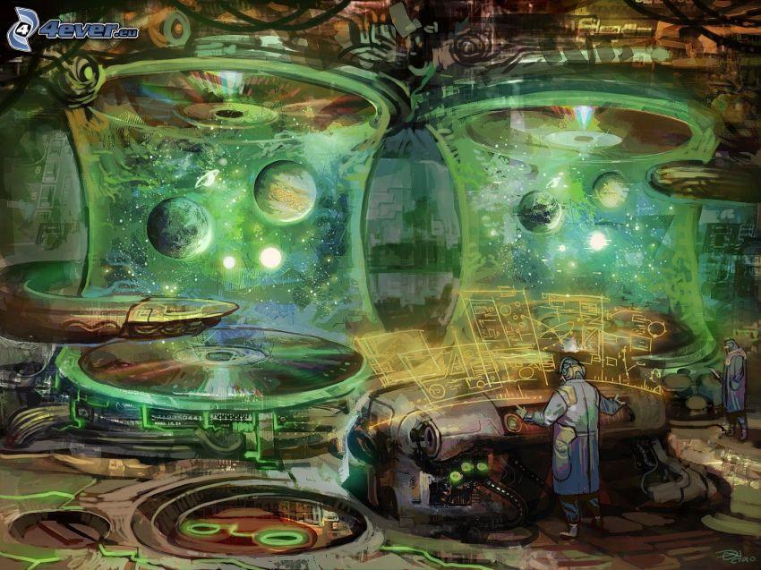 laboratorium, planeter, ingenjör