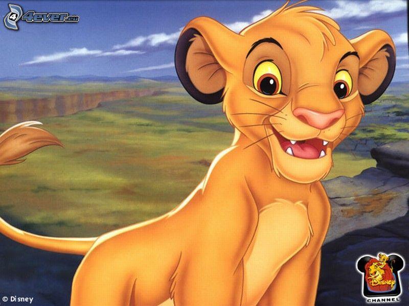 Lejonkungen, tecknat lejon