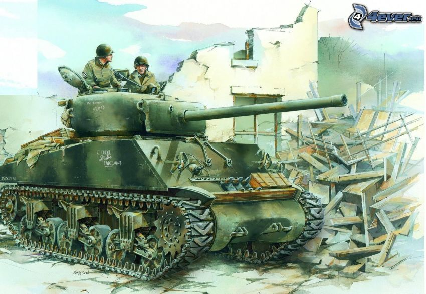 M4 Sherman, tank, militärer