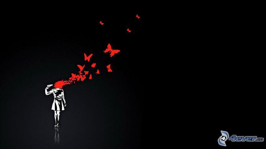 mord, fjärilar