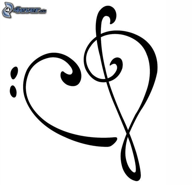 musikhjärta, klav