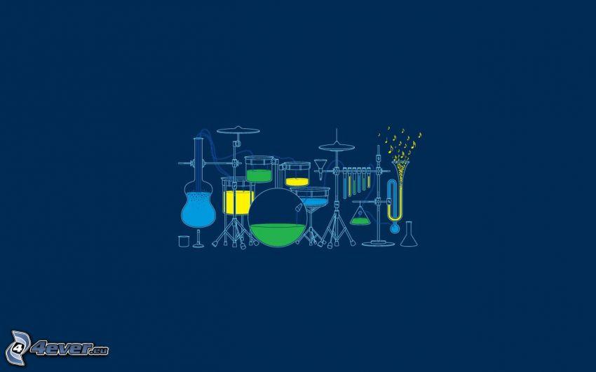 musikinstrument, provrör