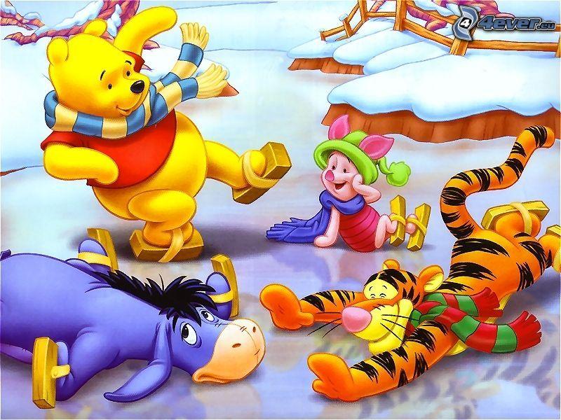 Nalle Puh, Winnie the Pooh, skridskoåkning
