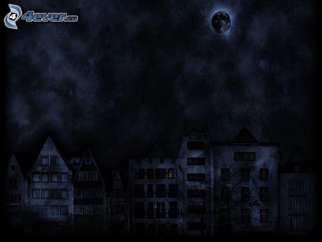 natt, hus