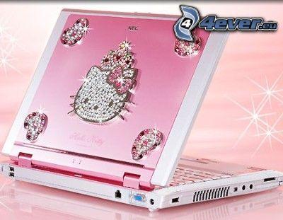 notebook, Hello Kitty, rosa