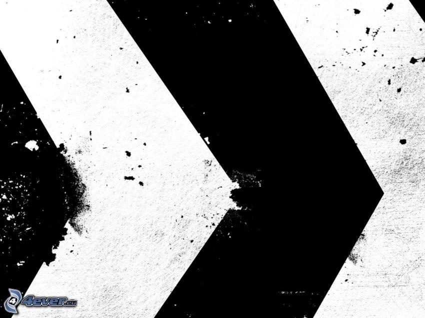 pilkastning, svart och vitt