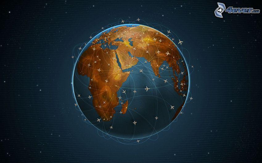 planeten Jorden, flygplan