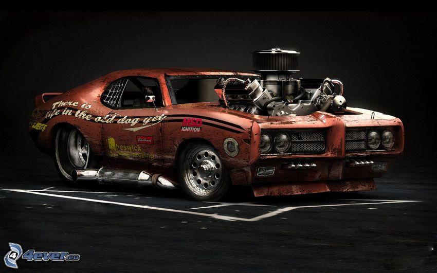 Pontiac, veteran, motor, tuning, Big Block