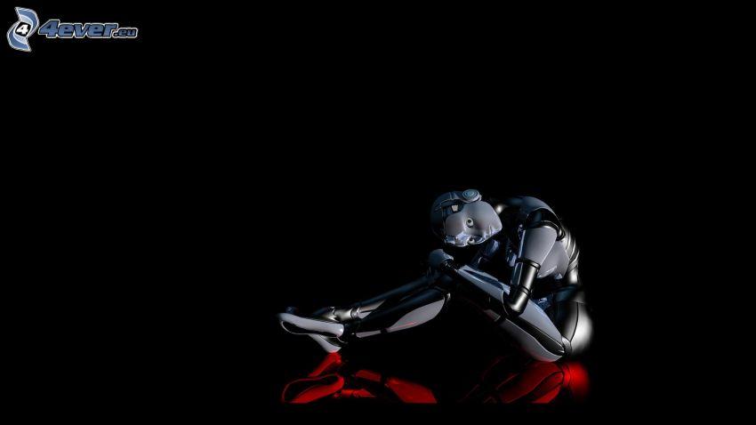 robot, kvinna