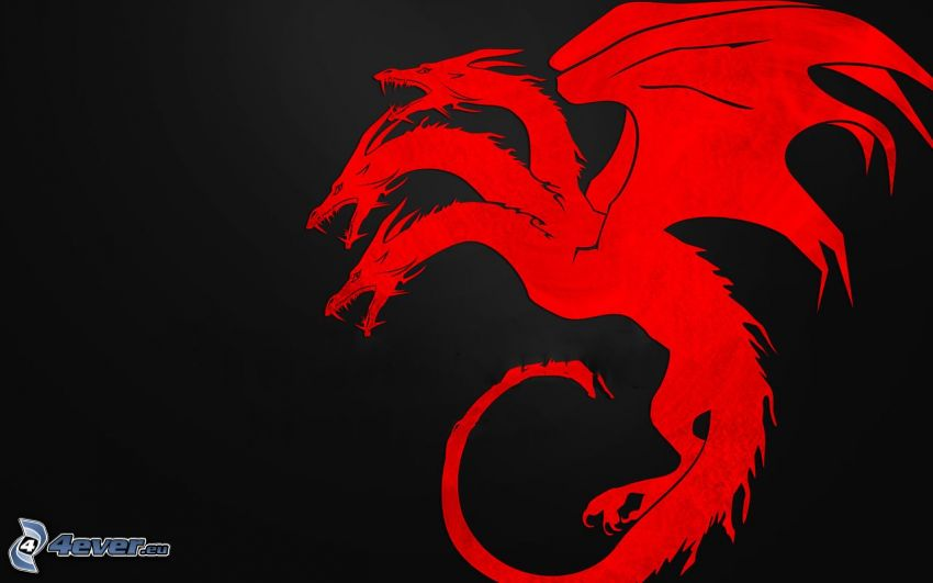 röd drake