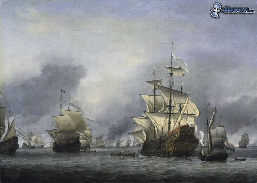 segelbåtar, fartyg