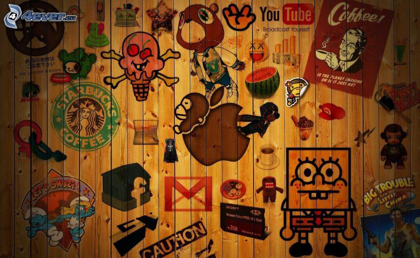 seriefigurer, logotyper