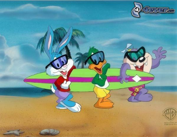 seriefigurer, surf, strand