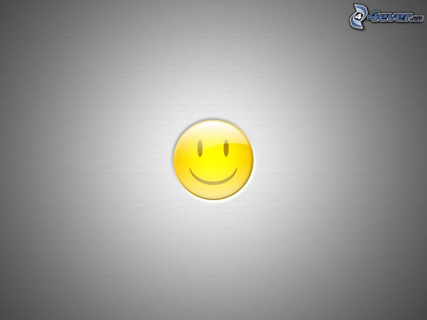 smiley, grå bakgrund