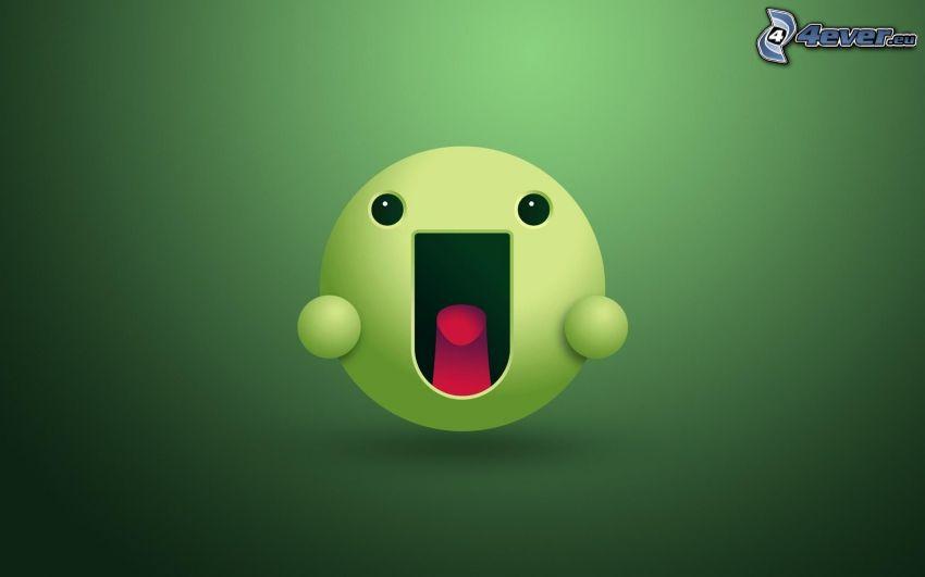 smiley, grön bakgrund