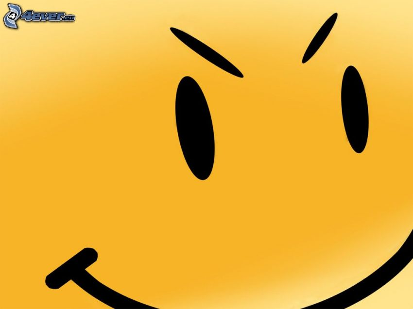 smiley, ögon, ilska