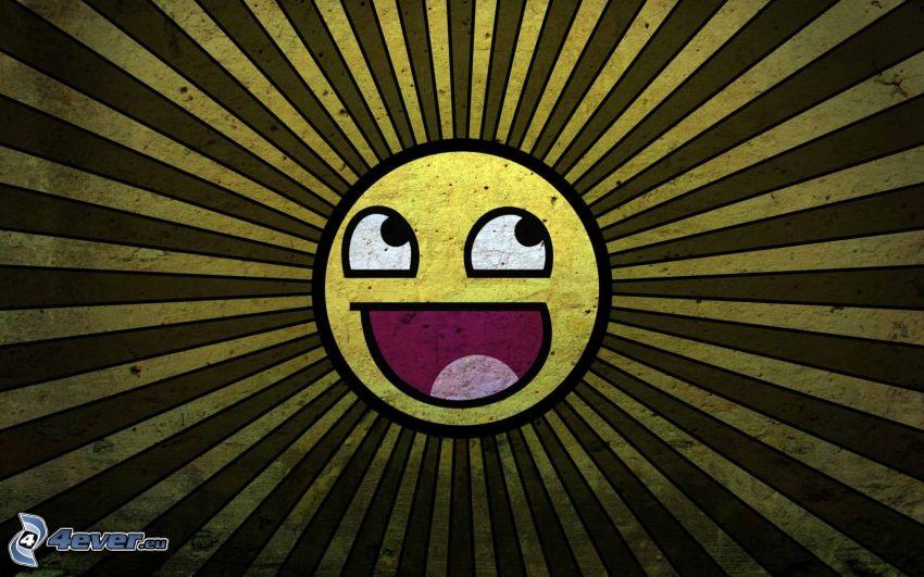 smiley, tecknad sol
