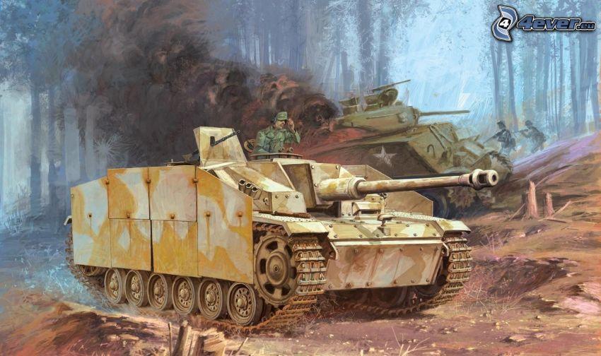 tank, Andra världskriget