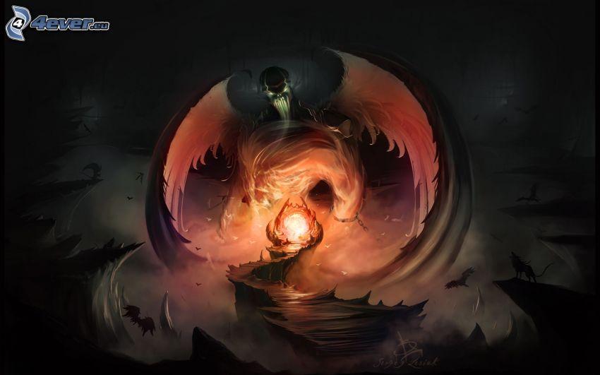 tecknad demon