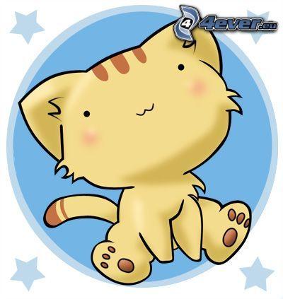 tecknad katt
