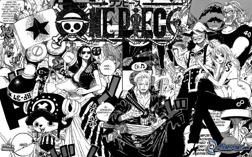 tecknade serier, seriefigurer, svart och vitt