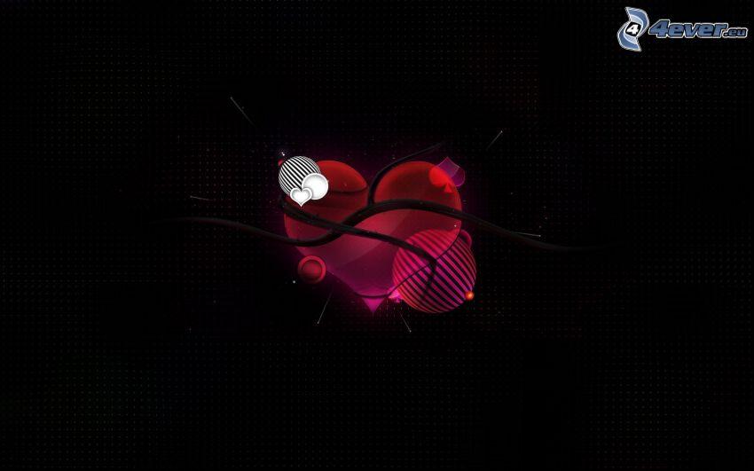 tecknat hjärta