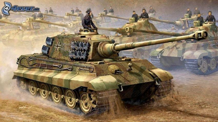 Tiger 2, tankar, Wehrmacht, Andra världskriget