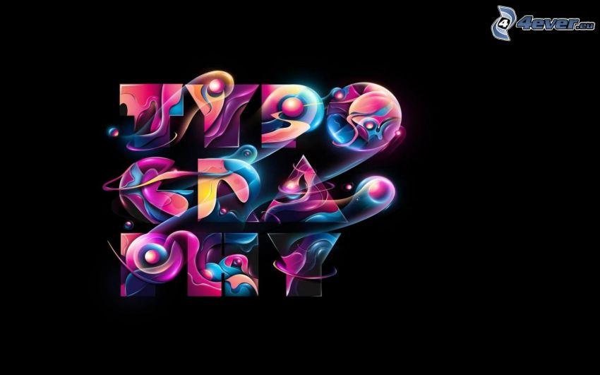 typography, bokstäver