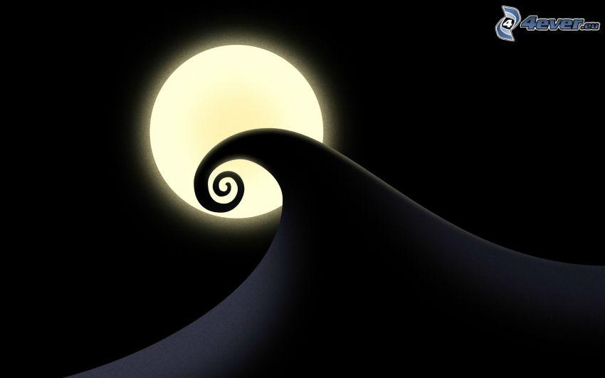 våg, måne