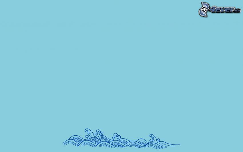 vågor, hav
