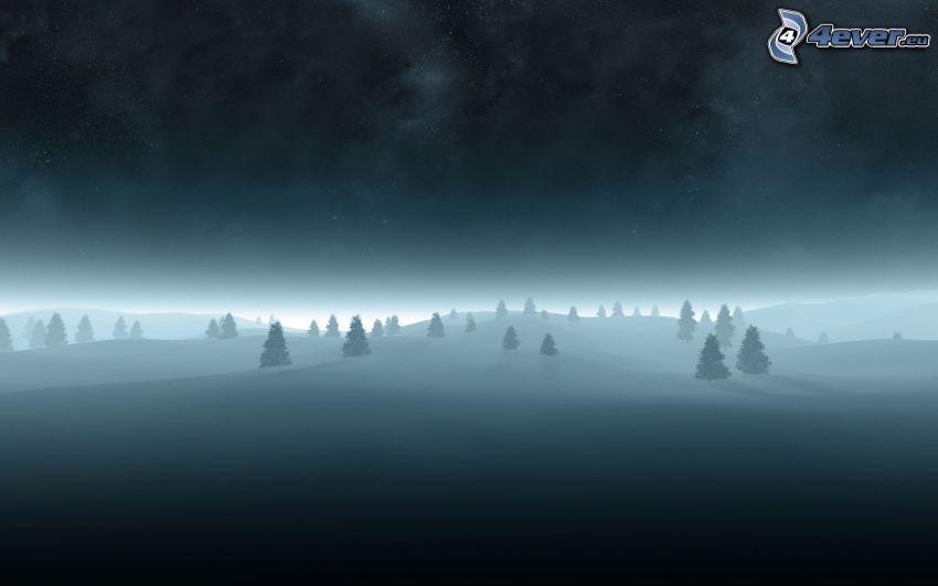 vinterlandskap, snö