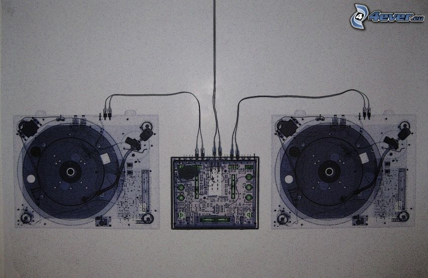 grammofon, skisser
