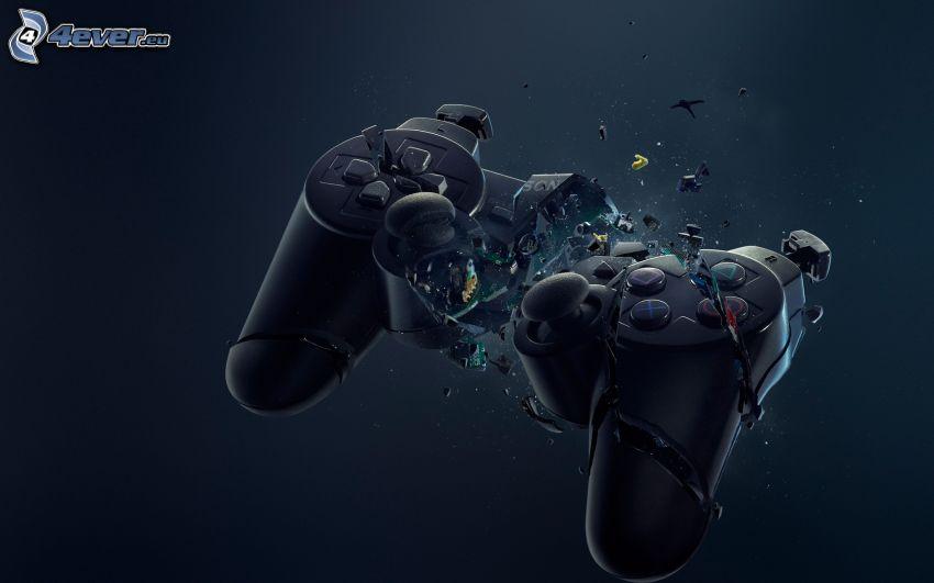 joystick, PS3, brutet
