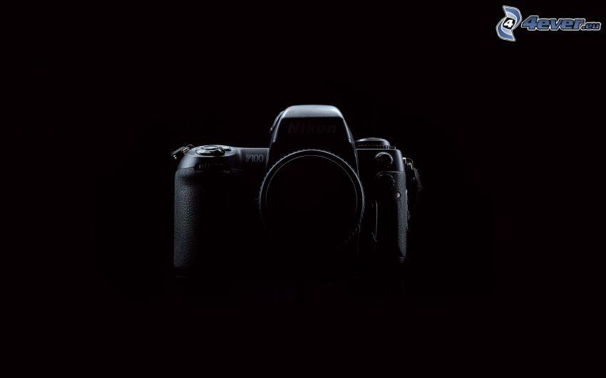 kamera, silhuett, Nikon