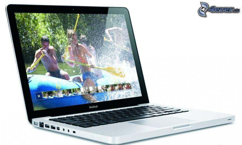 MacBook, rafting