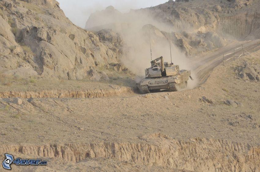 Leopard 2, tank, landskap
