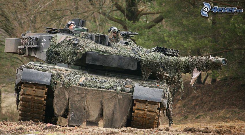 Leopard 2, tank, maskering