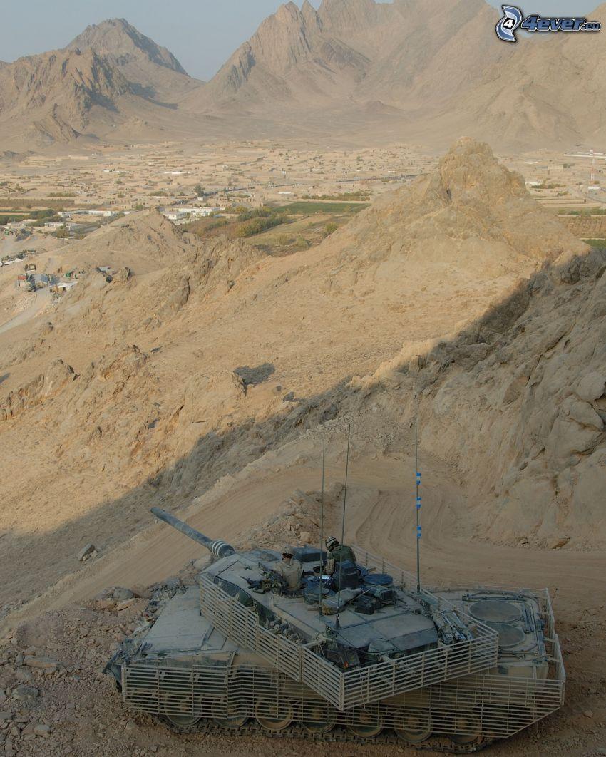 M1 Abrams, tank, Afganistan, berg