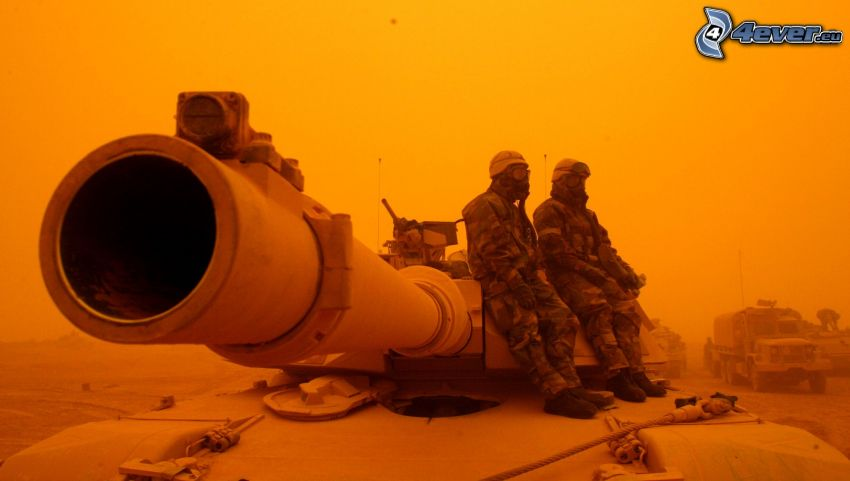 tank, militärer
