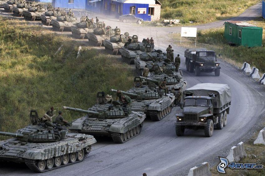 tankar, armé